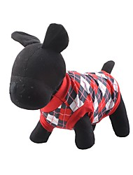Hunde T-shirt Rot / Blau Hundekleidung Winter / Sommer / Frühling/Herbst Plaid/Karomuster warm halten
