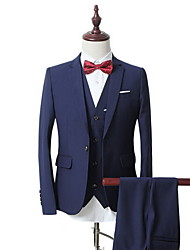 Men's Fashion Casual Dress Suit Suit Three Piece (Suit, Vest, Trousers) Does Not Include The Bow Tie