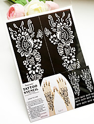 India PVC Henna Tattoo Sticker Printing Airbrush Tattoo Stencils
