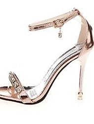 Women's Shoes PU Stiletto Heel Heels Sandals Party & Evening / Dress Pink / Silver / Gold