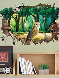 Tiere / Cartoon Design Wand-Sticker 3D Wand Sticker,PVC 50X70X0.1