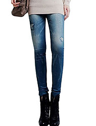 HOT Women's Skinny Fashion Leggings Women  Imitation of the Jeans Prints Pants Casual Pants