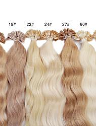 neitsi 20 дюймов 1G / с 100г кератина слияние у прибить наконечник естественным weavy человеческих волос