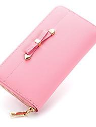 Women Cowhide Bi-fold Evening Bag / Wallet / Card & ID Holder / Business Card Holder / Checkbook Wallet