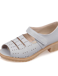 Women's Shoes Leatherette Low Heel Peep Toe Sandals Outdoor / Party & Evening / Dress / Casual Blue / Pink