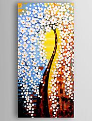 Pintados à mão Floral/BotânicoModerno 1 Painel Tela Pintura a Óleo For Decoração para casa