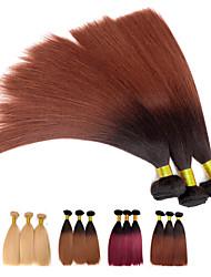 3pcs / lot 110g / pcs Ombre 7a 100% vierge cheveux humains brésiliens tisse la trame des paquets de cheveux, yaki, les cheveux naturels et colorés