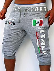 Pantalon de Sport Pour des hommes Lettre Sport Coton Noir / Bleu / Blanc / Gris