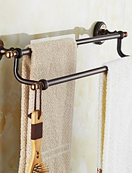 ORB and Rose Gold-plated finishing Brass Material Double Towel Bar