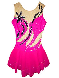 Robe de Patinage Femme Sans manche Patinage Jupes & Robes / Robes Haute élasticité Robe de patinage artistique Pêche Tenue de Patinage