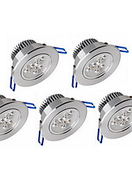 5pcs downlights dimmable 6w 600lm leds auminium conduit downlight celing lumière froide / blanc chaud