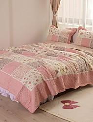 la moda 100% algodón 3 piezas acolchadas conjunto colcha, de matrimonio