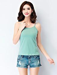 2016 Summer New Women Camisole /White / Black / Green Vest ,Strap Sleeveless