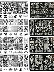 1PC Nail Art DIY Metal Printing Plates-BC01-10