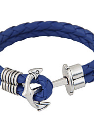 Women's New European Style Fashion Wild Metal Anchor Woven Bracelet Christmas Gifts