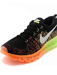 nike air max flyknit loopschoenen trainers sneakers zwart / blauw / grijs