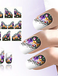 Nail Tools Beautiful Dream Flower Nail Art Sticker Water Transfer Printing Sticker Feathers Plane Water Stick Nail Stick