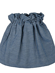 Girl's Blue Skirt,Ruffle Cotton Spring / Fall