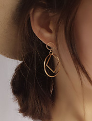 Stud Earrings Copper Simple Style Fashion Silver Golden Jewelry Party Daily Casual 1 pair