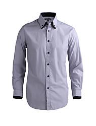 JamesEarl Herren Hemdkragen Lange Ärmel Shirt & Bluse Grau-DA112046721