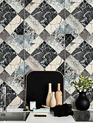 HaokHome®  Vintage Faux Marble Stone Textured Wallpaper Gray 3D Brick Realistic Paper Room Decoration Wall Covering