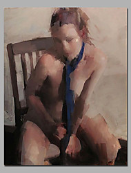Nude Girl Canvas Art With Wooden Stretcher Ready To Hange SIze 16 * 24 inch