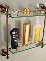 Prateleira de Banheiro / Cesto para Box de Banheiro Liga de Zinco De Parede 16.5*5.3*15.4 inch Liga de Zinco / Aluminio Antigo