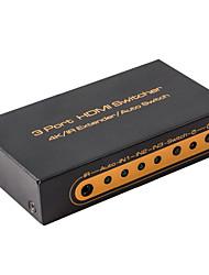 новый HDMI-переключатель 3x1 3 входа HDMI 1 HDMI выход Поддержка управления 4k IR с дистанционным управлением