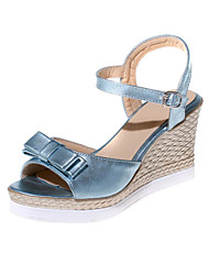 Women's Shoes Customized Materials Wedge Heel Wedges Sandals Wedding / Party & Evening / Dress / Casual Blue