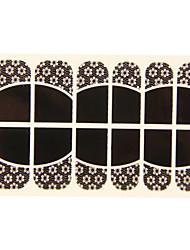 абстрактный черный горячий стикер кружева