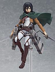 Attack on Titan Mikasa Ackermann PVC Las figuras de acción del anime Juegos de construcción muñeca de juguete