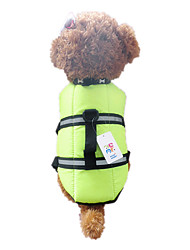 Dog Vest / Life Vest Orange / Green Dog Clothes Summer / Spring/Fall Waterproof