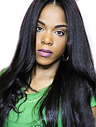 Long Yaki Straight Full Lace Human Hair Wigs Italian Yaki Full Lace Wig Unprocessed Virgin Brazilian Light Yaki Wig