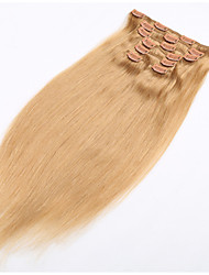 Clip-in Hair Extension Natural Human Hair Soft Brazilian Hair Product with Clip in - 20 Colors Available
