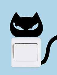 Wall Stickers Wall Decals Style Anger Cat Switch PVC Wall Stickers