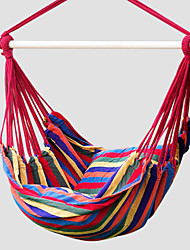 SWIFT Outdoor® Portable Cottton Red Stripe Swing Outdoor Garden Indoor Hammock Hanging Chair