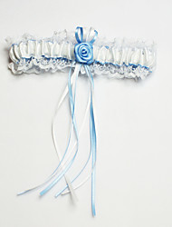 Garter Polyester Flower / Lace / Sweetheart White