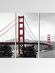 VISUAL STAR®Framed Modern Wall Art for Home Decoration Golden Gate Bridge Giclee Print on Canvas Ready to Hang