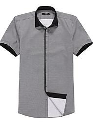 Sieben Brand® Herren Hemdkragen Kurze Ärmel Shirt & Bluse Schwarz-704A3E3388