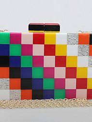 Women Acrylic Shoulder Bag Multi-color