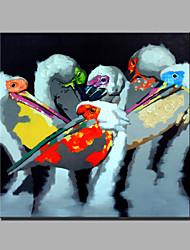 pintura a óleo moderna mão puro abstrato desenhar pronto para pendurar a óleo decorativa pintura uma avestruz