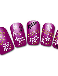 Snowflake/Leopard/Lace White/Black Flower 3D Nail Sticker