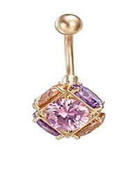 zircão aço inoxidável umbigo barriga anel botão dançar jóia do corpo jóias piercing da senhora