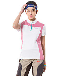 Course / Running Tee-shirt Femme Manches courtes RespirableCamping / Randonnée Chasse Pêche Escalade Exercice & Fitness Golf Courses