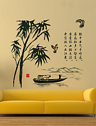 Wall Stickers Wall Decals Style Bamboo Leaves PVC Wall Stickers