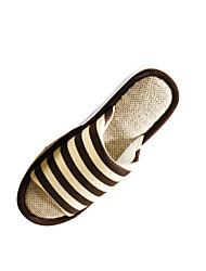 Zapatos de mujer-Tacón Plano-Zapatillas-Pantuflas-Casual-Poliéster-Marrón