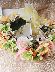 Femme Jeune bouquetière Tissu Casque-Mariage Occasion spéciale Décontracté Extérieur Fleurs Couronnes 1 Pièce