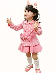 Girl's Pink Clothing Set Rayon Spring / Fall