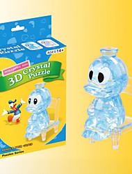 Quebra-cabeças Quebra-Cabeças 3D / Quebra-Cabeças de Cristal Blocos de construção DIY Brinquedos Pato ABS AzulModelo e Blocos de