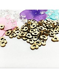 100PCS Wooden Mini Double Heart Wedding Table Decoration Party Scatters
